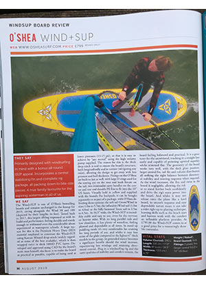 Windsurf Mag O'Shea Wind SUP review